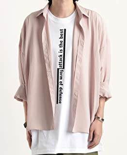 (バレッタ) Valletta レーヨンタッチ ビッグシルエット シャツ 半袖 無地 メンズ ストリートモード mens ワイドシャツ 春夏