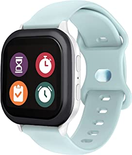 Silicone Gizmo Watch Band Replacement for Kids,Soft Sport Smartwatch Band Compatible with Gizmo Watch 2, Gizmo Watch 1 for Boys and Girls (Light Blue)