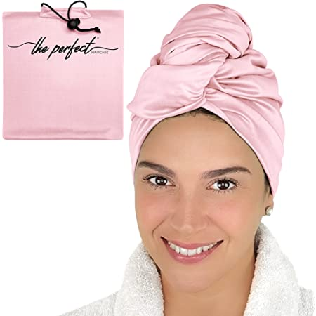 Microfiber Hair Drying Towel for Curly Hair - Smooth Microfiber, Ultra-Fine and Untextured - for Fast-Drying, Undamaged, Tangle-Free Hair - (40 in. x 27.5 in.) - Pink - The Perfect Haircare