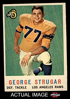 1959 Topps # 121 George Strugar Los Angeles Rams (Football Card) Dean's Cards 7 - NM Rams