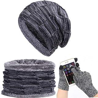 مجموعة قفازات الشتاء لآفي للرجال والنساء قبعات منسوجة وشاح سكاليز قبعات الشتاء الدافئة