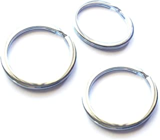 Mehr 3X Key Chain Rings - Chrome Keychain Rings - Durable Key Rings