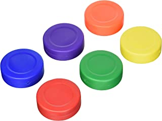 Spectrum Lightweight Hollow Plastic Floor Hockey Pucks (Set of 6)