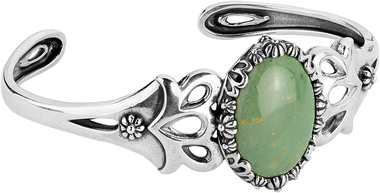 American 蔵 West Bracelet Sterling ※ラッピング ※ Gemstone Choice Floral Color of