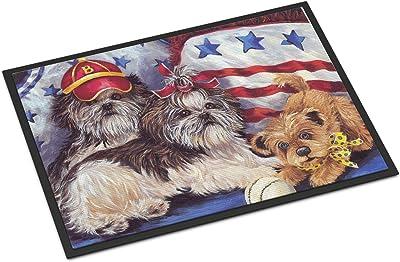 Caroline's Treasures Shih Tzu Americana Sweethearts Door Mat doormats, Multicolor
