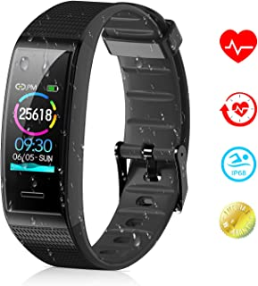 Tovendor Smart Band Fitness Tracker with 0.96 Inch Color Screen, IP68 Waterproof Sports Activities Tracker with Heart Rate and Sleeping Monitor, Step Counter Pedometer for Women Men and Kids