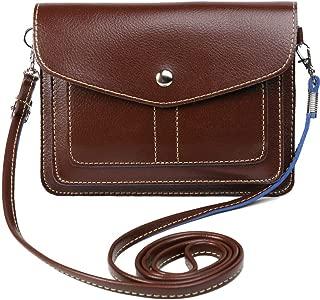 Women's PU Leather Horizontal Crossbody Shoulder Bag Wallet Purse for LG V30+ V30 G6+ G6 / Stylo 3 Plus / Huawei Nova 2 Plus / P10 / P10 Plus / Y7 Prime / Honor 9 / 8 Pro / Enjoy 7 Plus (Brown)