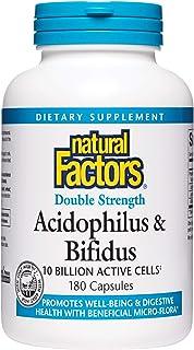 Natural Factors, Acidophilus & Bifidus Double Strength, Probiotic and Prebiotic Formula, 180 Capsules