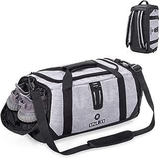 Gym Bag Duffel BagTravel Luggage Sports Fitness Backpack Water Resistance Rucksack Crossbody Shoulder Bag Training Cabin Handbag with Shoe Compartment for Men Women [40L]