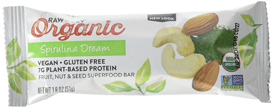 Raw Rev Organic Superfood Bar, Spirulina Dream, 1.8 Ounce Bar (Pack of 12) 7g Protein, 2g Fiber, Vegan, Raw, Organic, Plant-Based, Gluten-Free, Fruit, Nut, & Seed Bars