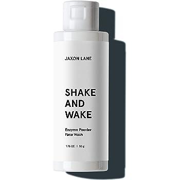 SHAKE + WAKE Exfoliating Powder Face Wash w/ Papaya Enzymes Powder, Aloe Vera, Vitamin C, Vitamin E, Niacinamide Serum, AHA | Anti Aging Deep Pore Cleanser & Acne Treatment for Glowing Skin by Jaxon Lane