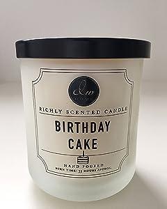 DW Home Medium Single Wick Candle, Birthday Cake