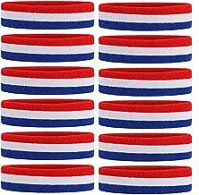 1 Bandeau + 2 Bracelets ONUPGO Bandeau Bandeau Bandeau Bandeau en Coton Athl/étique Bande de Sudation pour Sport