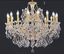 LUXURY MARIA THERESA ASFOUR CRYSTAL CHANDELIER - EGYPTIAN SAND PURE CRYTAL FOR DINING ROOM HALLWAY ENTRANCE