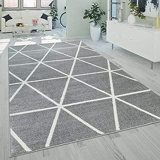 Alfombra Salón Pelo Corto Moderna Diseño Geométrico