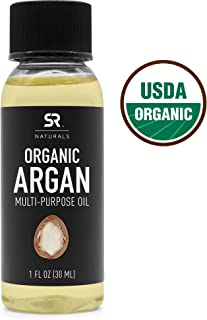 Organic Argan Oil by SR Naturals ~ 100% Multi-Purpose Oil for Hair & Skin ~ USDA Certified Organic,100% Pure, Cold Pressed