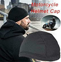 charmsamx Skull Cap Wicking Cooling Helmet Liner Running Beanie Cap, Headwear Sweat Wicking Breathable Mesh Dome Cap Sweatband for Motorcycle Cycling Men & Women (Black)