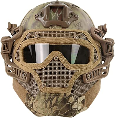HYOUT Fast Tactical Helmet Combined with Full Mask