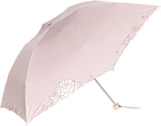 [シャルルジョルダン] AURORA(オーロラ) 1CJ 27237-37オーガンジーカットワーク スカラ刺繍遮光兼用大判おりたたみ日傘(長短袋付き) CJ55-37