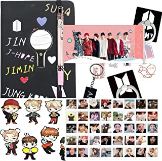 Gifts Set for Fans - 1 Notebook, 1 Pen, 40 Lomo Cards, 2 3D Stickers, 2 Phone Ring Stand Holder, 1 Keychain