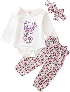 Baby Girl Winter Fall Outfits Little Daisy Print Sweatshirt Pullover Tops+Pocket Pants Leggings+Headband Outfits Set