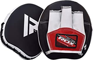 RDX Boxing Pads Mini Focus Mitts   Leather Micro Hook and Jab Hand Pads   Kickboxing Strike Target Smartie Training Martial Arts Punching Shield
