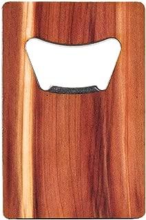 WOODCHUCK USA Wooden Credit Card Bottle Opener - Cedar, Mahogany, Walnut - 100% Premium Wood (Cedar)