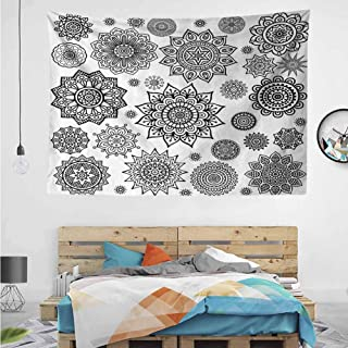 HuaWuChou Arabic Eastern Mandala Tapestry, Indian Dorm Decor for Living Room Bedroom, 59W x 39.3L Inches