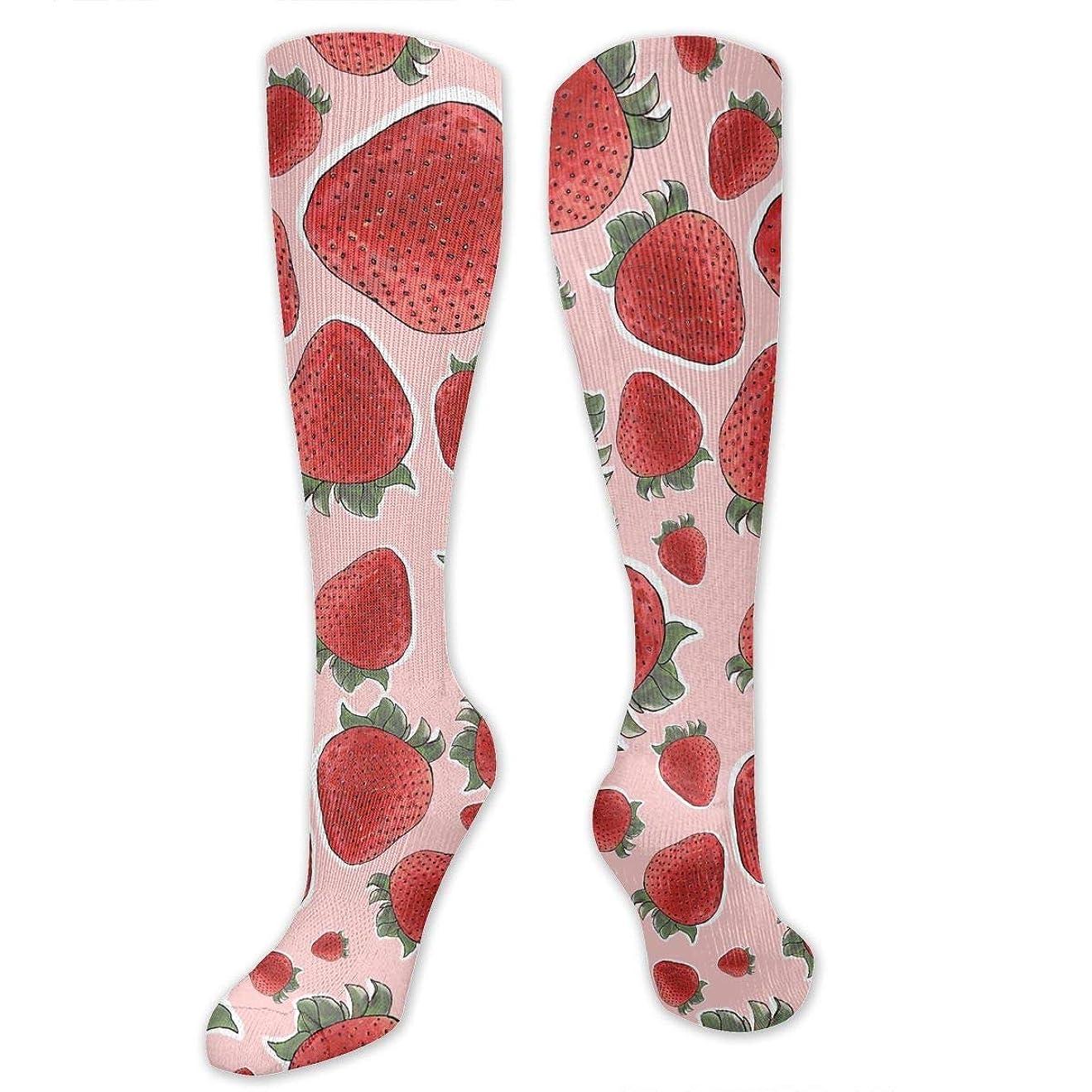 青写真生産的一部qrriyイチゴ果物- 3 D抗菌アスレチックソックス圧縮靴下クルーソックス