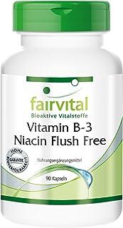 Vitamina B3 400mg - Niacina Flush Free - No ruborizante - VEGANA - Dosis elevada - 90 Cápsulas - Calidad Alemana