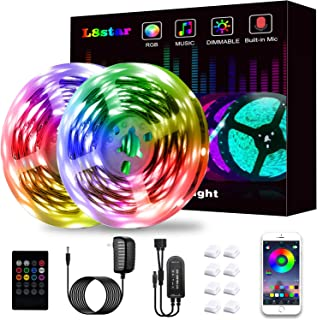 LED Strip Lights, KIKO Led Lights Smart Color Changing LED Lights 32.8ft/10m SMD 5050 RGB Light Strips with Bluetooth Controller Sync to Music Apply for Bedroom, Party, Home Decoration