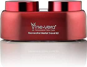 Vine Vera Resveratrol Merlot Travel Kit - Day Cream 12ml + Night Cream 12ml - helps reduce the appearance of fine lines and wrinkles