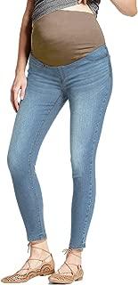 Hybrid & Company Super Comfy Stretch Women's Skinny Maternity Jeans, Bermuda, Capri
