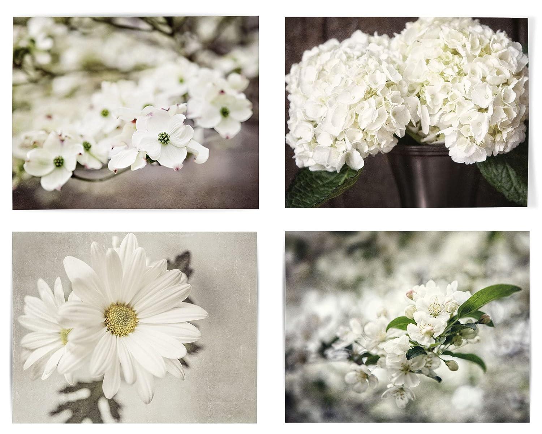 Shabby Chic Decor Set of 4 Flower 5 ☆ popular cheap Framed Prints Art i Not Wall