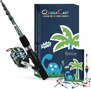 QudraKast Kids Fishing Pole, Portable Kids Fishing Rod...