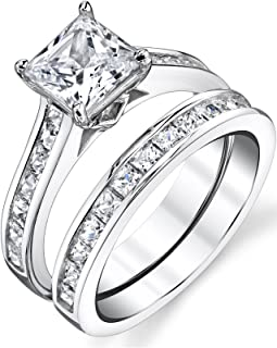 Best princess cut engagement ring and wedding band Reviews