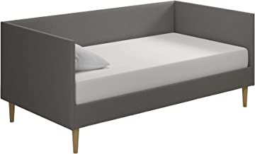 DHP Franklin Mid Century Upholstered Daybed, Sofa Bed, Twin Size Frame, Grey Linen