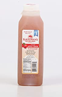 Kauffman's Award-Winning Homemade Fresh Apple Cider, Frozen for Shipping, 16 Oz. Bottles (Pack of 6)