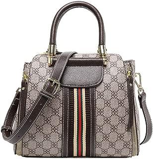 Ladies handbag Women's Classic Print Messenger bag fashion wild fashion trend print handbag pillow bag(Brown, one size)