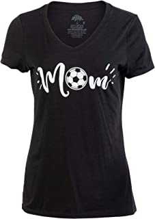 Soccer Mom | Funny Cute Fun Sport Mama Little League Youth Mommy Women's V-Neck T-Shirt