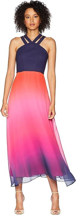 Sara - Double Strap Ombre Maxi Dress