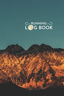 Moon Light running and Jogging log book: Snow Wild Mountain Running and Jogging Notebook 6x9 Inches 100 Pages Monthly Cale...