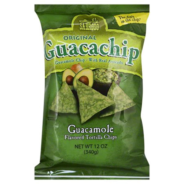 El Sabroso Guacachip Same day shipping Elegant Guacamole Flavored Tortilla Chips 12-Ounc