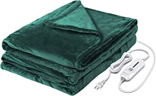 WAPANEUS Electric Heated Blanket with 3 Heating Levels and Auto Shut Off,Soft Plush Heated Throw Blanket with Fast-Heating and Machine Washable Fabrics For Couch or Bed Use 62