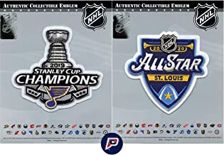 2019 NHL Stanley Cup Champions St Louis Blues 2020 NHL All Star Patch Combo