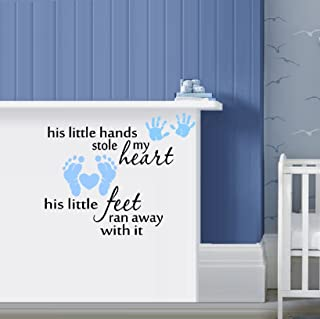 His little hands stole my heart, his little feet ran away with it ~ WALL DECAL 20