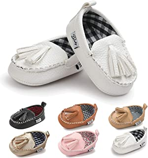 Infant Baby Boys Girls Loafers Tassels Soft Sole Sneakers First Walkers Crib Shoes Flat Boat Dress