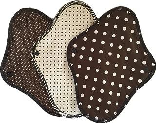 すぃーと・こっとん 布ナプキン ブラックネル 一体型布ナプキン昼用3枚セット(チョコ)