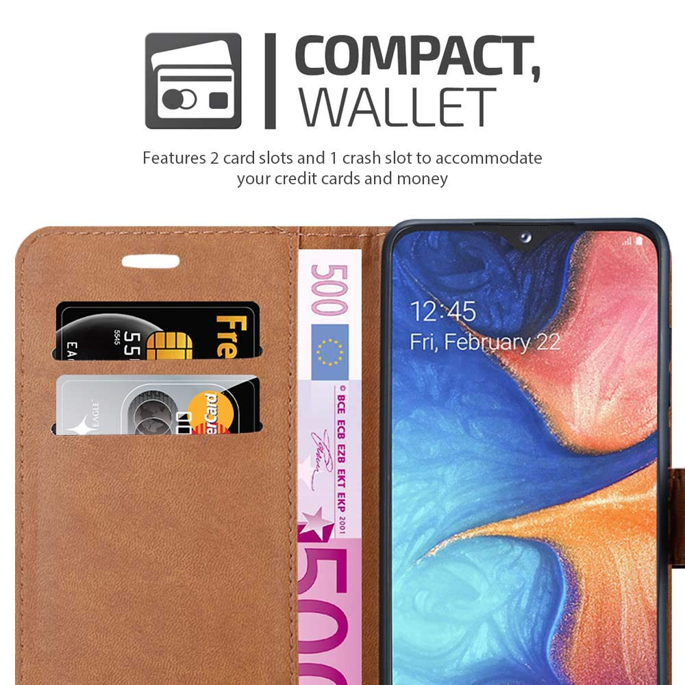 For Samsung Galaxy A20e Case Wallet Book [Stand View] Card Case Cover Magnetic Closure [Kickstand] Full Protection Premium Leather Folio Case Compatible with Samsung Galaxy A20E Phone Cover (Black)