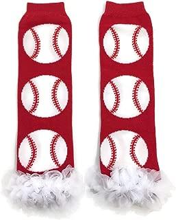 Rush Dance All Time Sports Baseball Chiffon Ruffles Baby/Toddler Leg Warmers